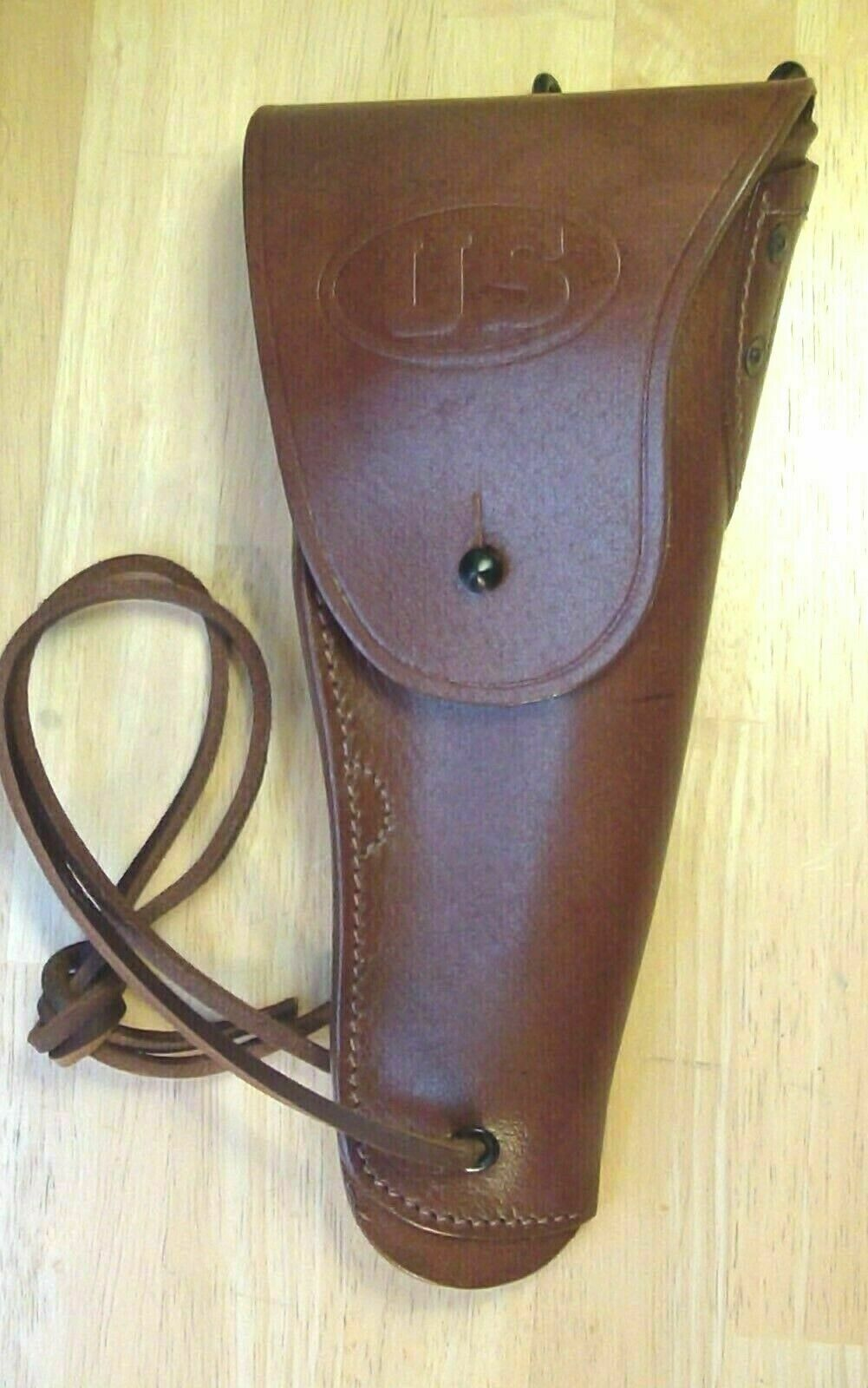 WWII Model 1916 Leather Holster For Colt M1911 .45 Pistol 45 Auto, Acp NEW  - $40.97