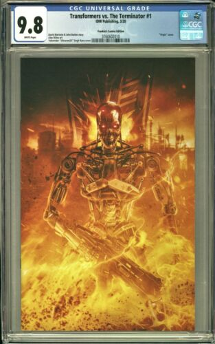 Transformers vs The Terminator #1 CGC 9.8 Rana VIRGIN Variant