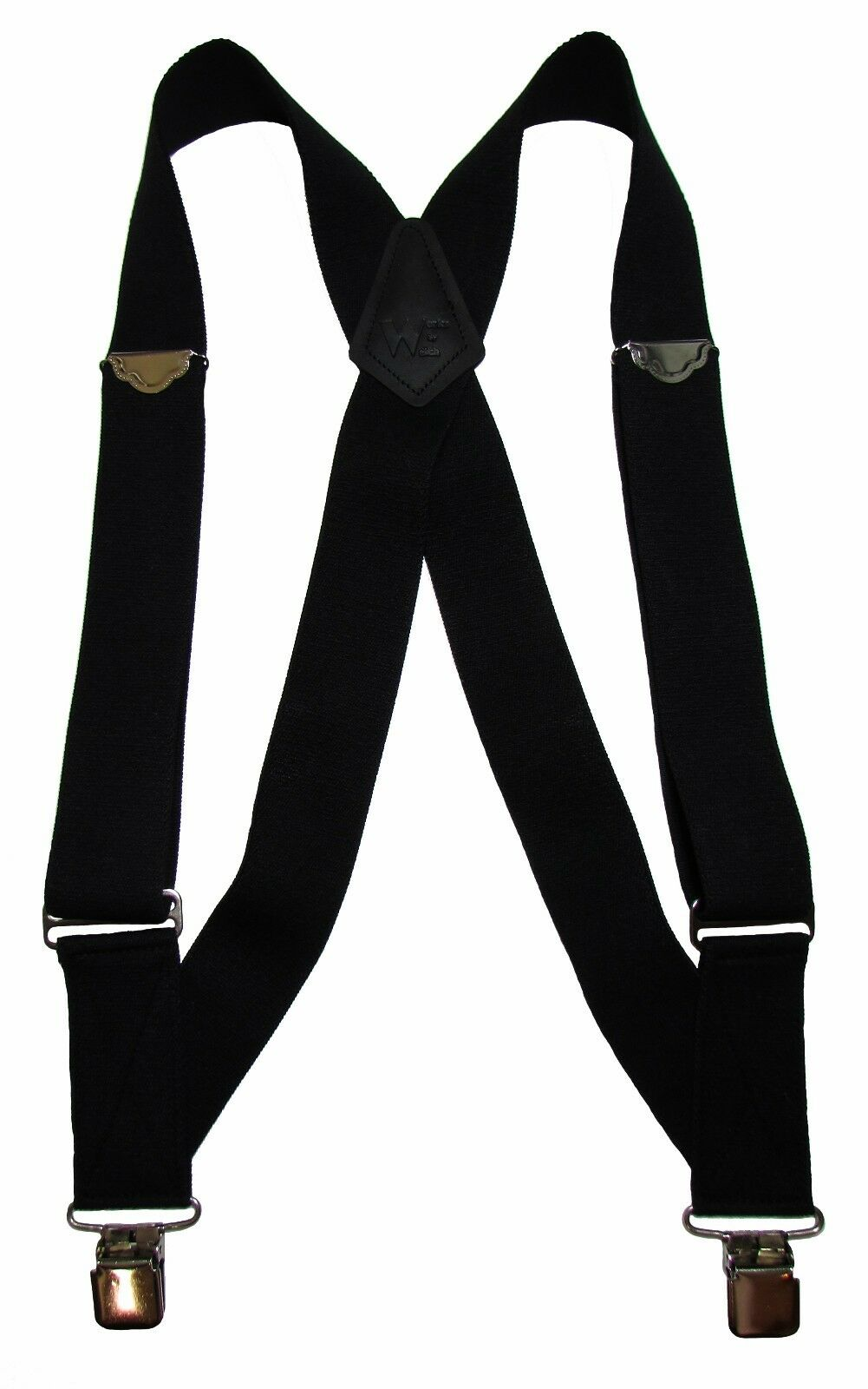 New Welch Men's Elastic Clip-End Trucker Suspenders