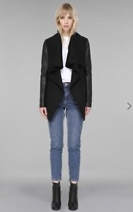 Mackage Vane luxe waterfall wool/leather jacket