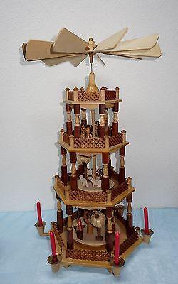 DREGENO 4-stöckige Weihnachtspyramide Christi Geburt - natur