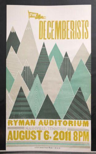 The Decemberists Hatch Show Print Concert Poster @ The Ryman Nashville TN 2011