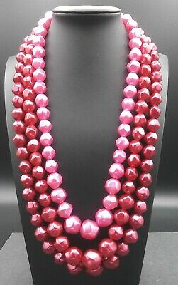60s -70s Jewelry – Necklaces, Earrings, Rings, Bracelets Vintage Pink Necklace 1950's 1960's Signed Hong Kong $29.99 AT vintagedancer.com