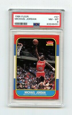1986-87 Fleer Basketball Set 1-132 Michael Jordan Rookie RC PSA 8 HIGH END SET!
