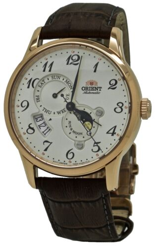 Orient Sun and Moon Automatic RA-AK0001S Brown Leather Band