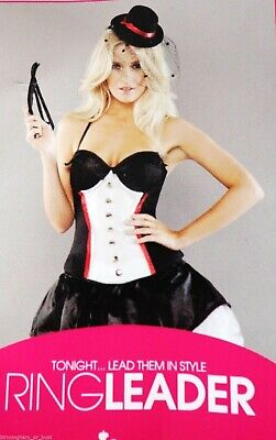 ANN SUMMERS Sexy Ring Leader Adult Costume Mini Dress Whip Outfit size 6](Female Ringleader Costume)