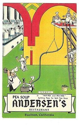 Pea Soup (Pea Soup Andersen's Restaurant Buellton California Linen Postcard)