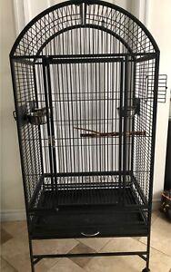 Grande cage pour perroquet, oiseau