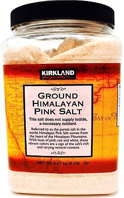 Himalayan Pink Salt Kosher 100% Raw Natural Unrefined Fine Grain, 5 Pounds