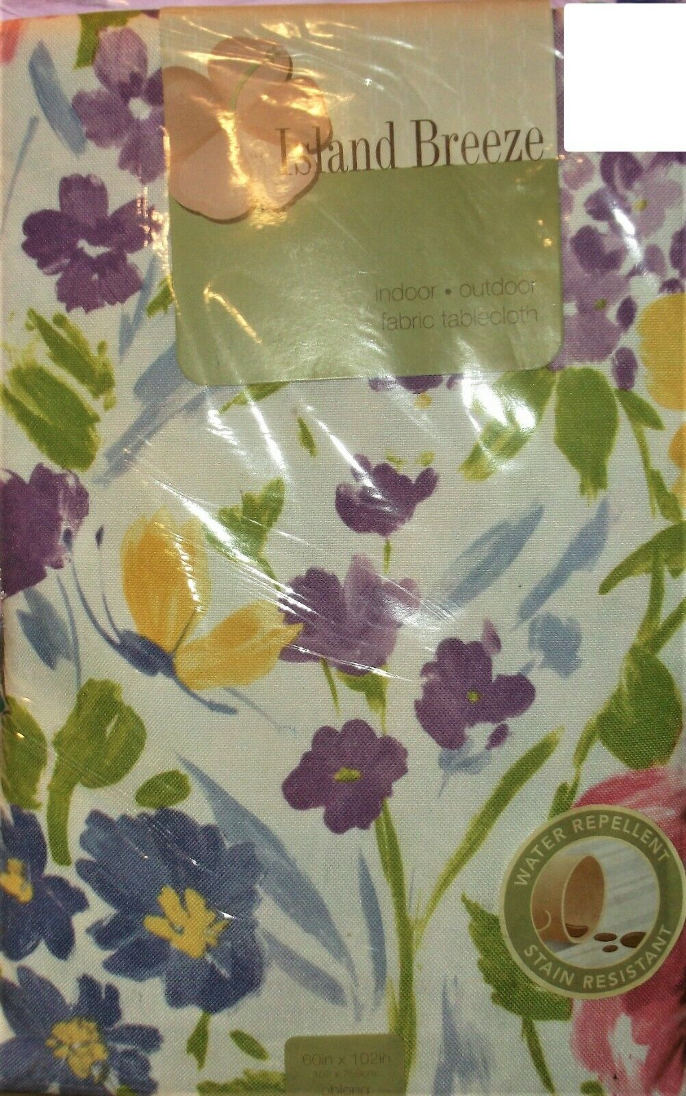 INDOOR OUTDOOR TABLECLOTH 60 x 102 RECTANGULAR FLORAL POLYES