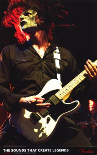 FENDER POSTER~Jim Root Slipknot Stone Sour Telecaster Guitar Live On Stage New~