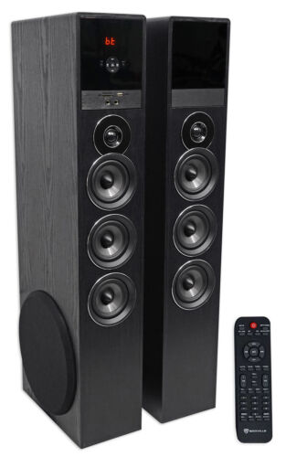 Tower Speaker Home Theater System w/Sub For Samsung NU6900 Television TV-Black