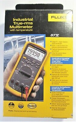 New Boxed Fluke 87v Series 5 Multimeter Tl75 Leads Ac72 Clips 80bk-a Temp.