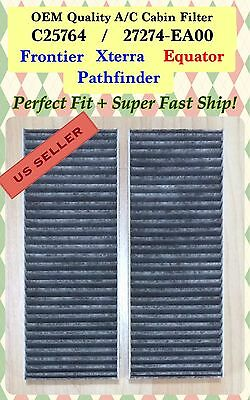 CARBONIZED Cabin Air Filter For Nissan Pathfinder Frontier Xterra Equator NV1500