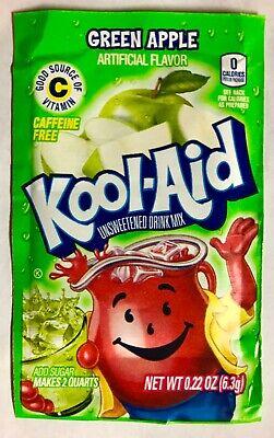 24 Kool-Aid Green Apple Unsweetened Caffeine Free Drink Mix Best by