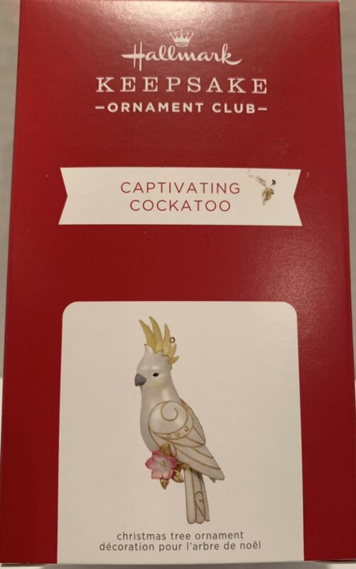 2021 Hallmark Keepsake Ornament Club Captivating Cockatoo