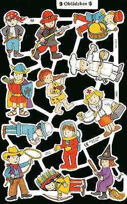 Kinder Kostüme Bilder (# GLANZBILDER # MLP 2040, verkleidete Kinder, Fasching, Karneval, Kostüme)