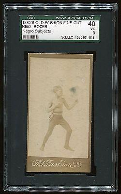 "1880s N692 Old Fashion Fine Cut ""Boxer"" SGC 40 VG Cert #1350101-018"