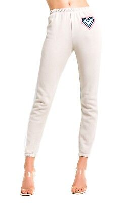 (WILDFOX Womens Sweatpants Retro Fox Heart Knox Track Pants Jogger Sweats L NWT)