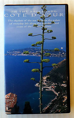 Cote D'Azur - On The Backroads ~ VHS Movie Video ~ Yachting French Riviera Coast