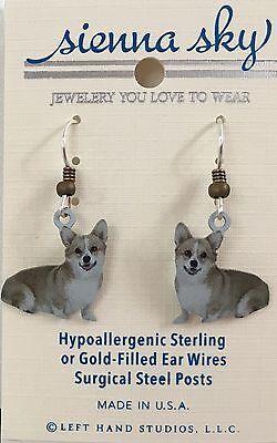 Welsh Corgi Earrings (NEW Welsh Corgi Dangle Dog Earrings Sienna Sky Made in)