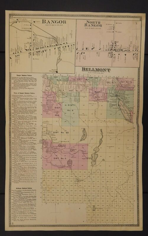 New York, Franklin County Map, 1876 Town of Bellmont Z2#23