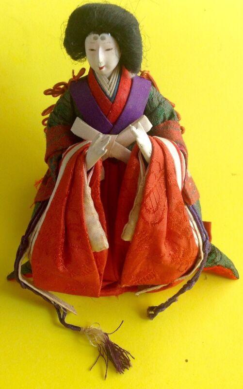 """ANTIQUE GEISHA DOLL 6"""" Japanese  Kimono vintage"""