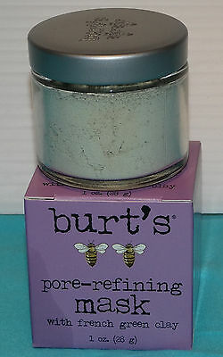 BURT'S BEES *** REFINING   MASK 1. OZ BOXED   SALE  GIFT IDEA  NEW  GREEN CLAY