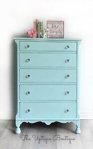 Jacobean solid wood tallboy dresser chest of drawers
