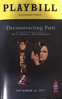 Deconstructing Patti Lupone Playbill Broadway Seth Rudetsky