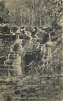 s09568 The Falls, Virginia Water, Surrey, England postcard unposted