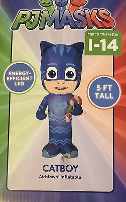 PJ Masks CATBOY Christmas Inflatable LED Lights 5 Foot Tall