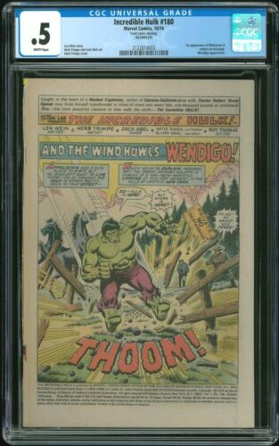 Incredible Hulk 180 - CGC 0.5 COVERLESS (First Cameo Appearance of Wolverine)