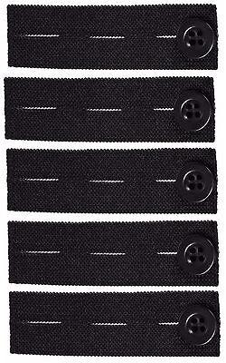 Elastic Pants Waist Extender 5-Pack - Strong Adjustable Pant Button Extenders