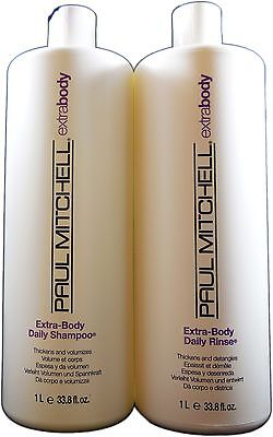 Paul Mitchell Extra Body Shampoo and Conditioner Liter Duo 33.8oz Each