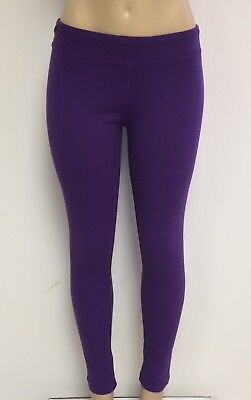 Cotton Spandex Knit Pants - Ladies Cotton Spandex Rib Knit Legging Pant Sizes S-M-L-XL Color Purple NWT