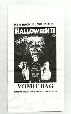 HALLOWEEN 2 vomit bag RARE collectible NM OOP limited edition HORROR classic