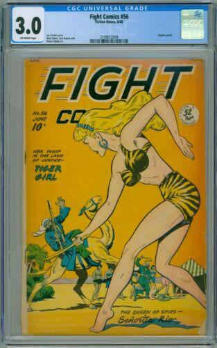 FIGHT COMICS #56 CGC GD/VG 3.0 MATT BAKER JACK KAMEN ART LINGERIE COMIC 1948