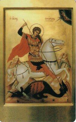 (Orthodox Icon Prayer Card - Saint George (2.2
