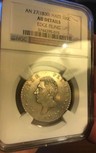 Haiti 1830 100 centimes, AU details
