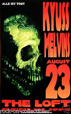 The Melvins & Kyuss 1995 Berlin Original Concert Poster By Frank Kozik 9532 S/N