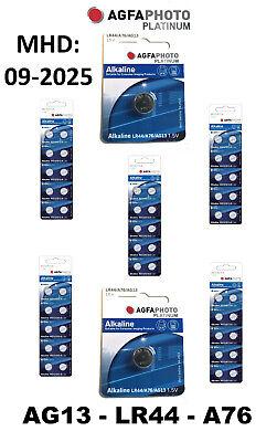 AG13 AgfaPhoto LR44 Knopfzellen Batterien Uhrenbatterien MHD 2024 LR44 A76 1.5V