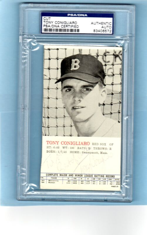 1964 Tony Conigliaro Signed Topps All-Star Banquet Card Boston Red Sox PSA/DNA