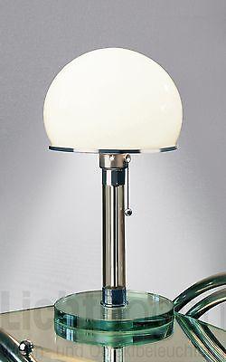 Tischleuchte WG 24 (Wagenfeld) Glas by Tecnolumen Original mit Nummer Bauhaus