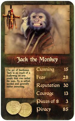 Jack The Monkey Pirates Of Caribbean Dead Mans Chest 2006 Top Trumps Card C2005C Monkey Man Jacke