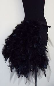 neuf burlesque jupe tutu ceinture buste plumes tailles de sexy noir cygne ebay. Black Bedroom Furniture Sets. Home Design Ideas