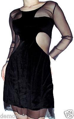 SINISTER SAMT KLEID SM fledermaus gothic x-tra-x vampire halloween kostüm tattoo ()