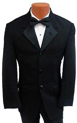 44S Black Halloween Costume Tuxedo Jacket Butler Zombie James Bond 007 Trump