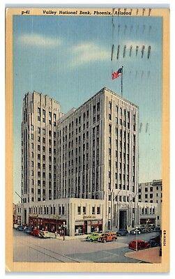 1945 Valley National Bank  Phoenix  Az Postcard