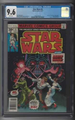 Star Wars #4 CGC 9.6 NM+ White Pages Death of Obi-Wan A New Hope Pt 4 10/77